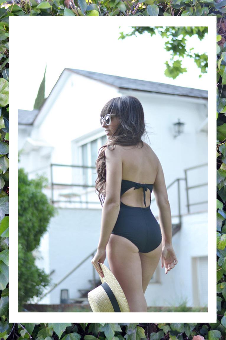 Swimwear outfits, bodysuit, dolores cortes, summer, trikini, dolores cortés splash, thierry lasry sun glasses, swiming pool look