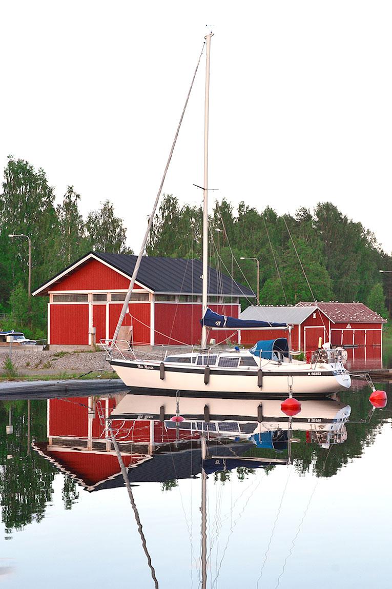 Finland, Savonlinna, Kerimaki, forest, trees, nature, boat