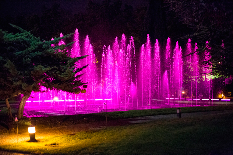 deco, fountain pink lights, party, huawei