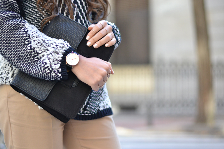 winter outfit, daniel wellington