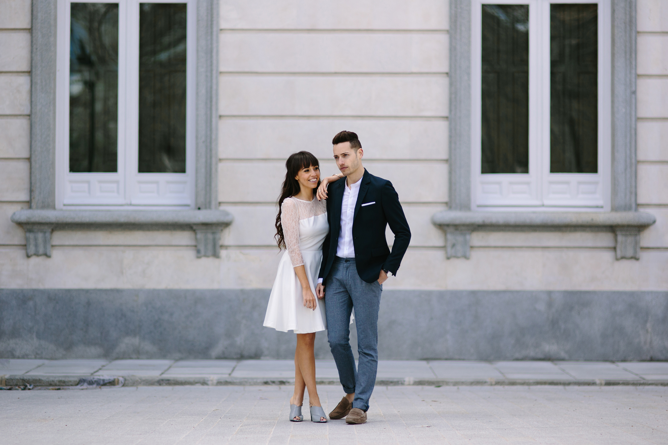 Ceremony couple, street style, lookbook, wedding outfit
