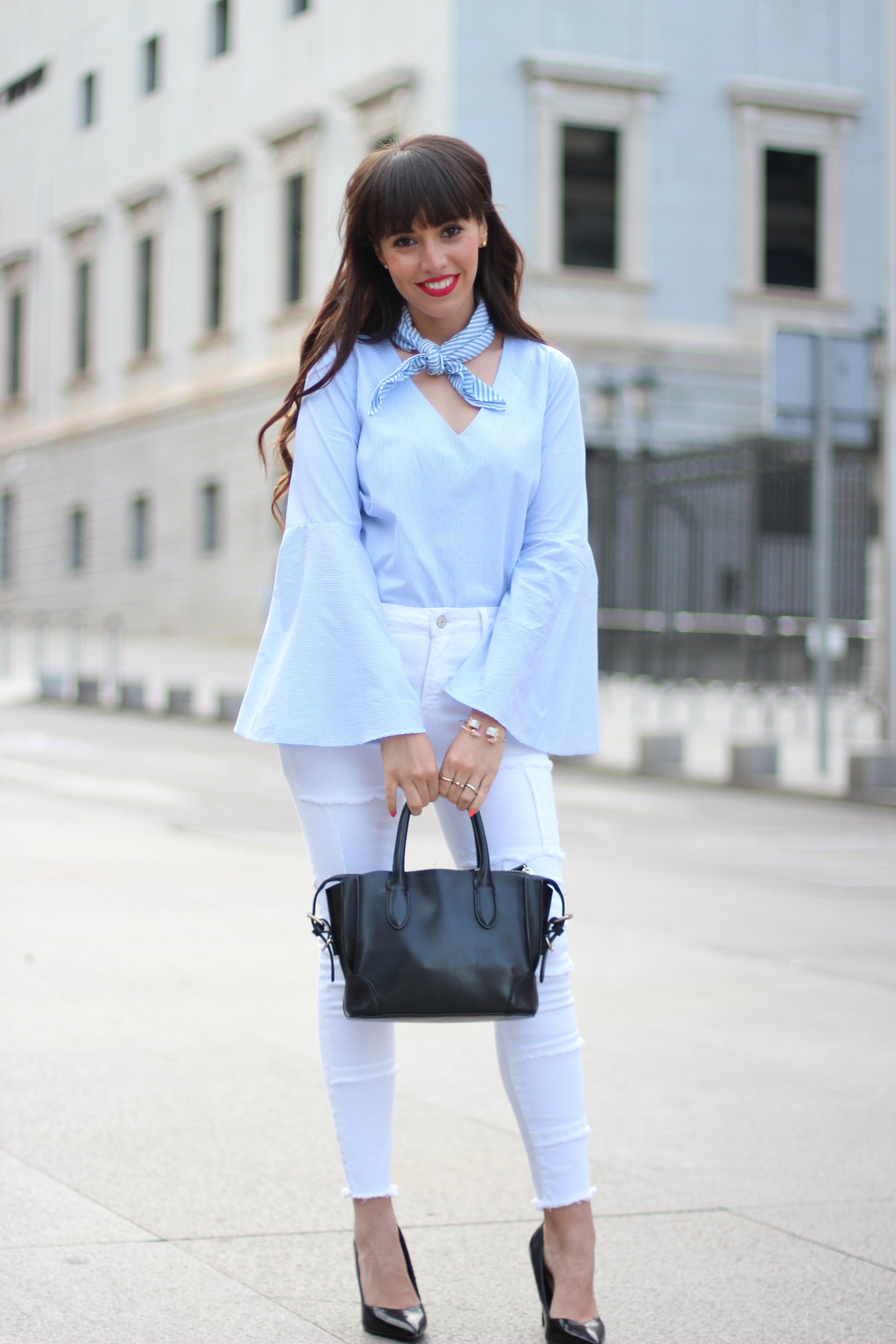 Flared-sleeves_patchwork-pants_skinny-scarf_spring-street-style_(2)