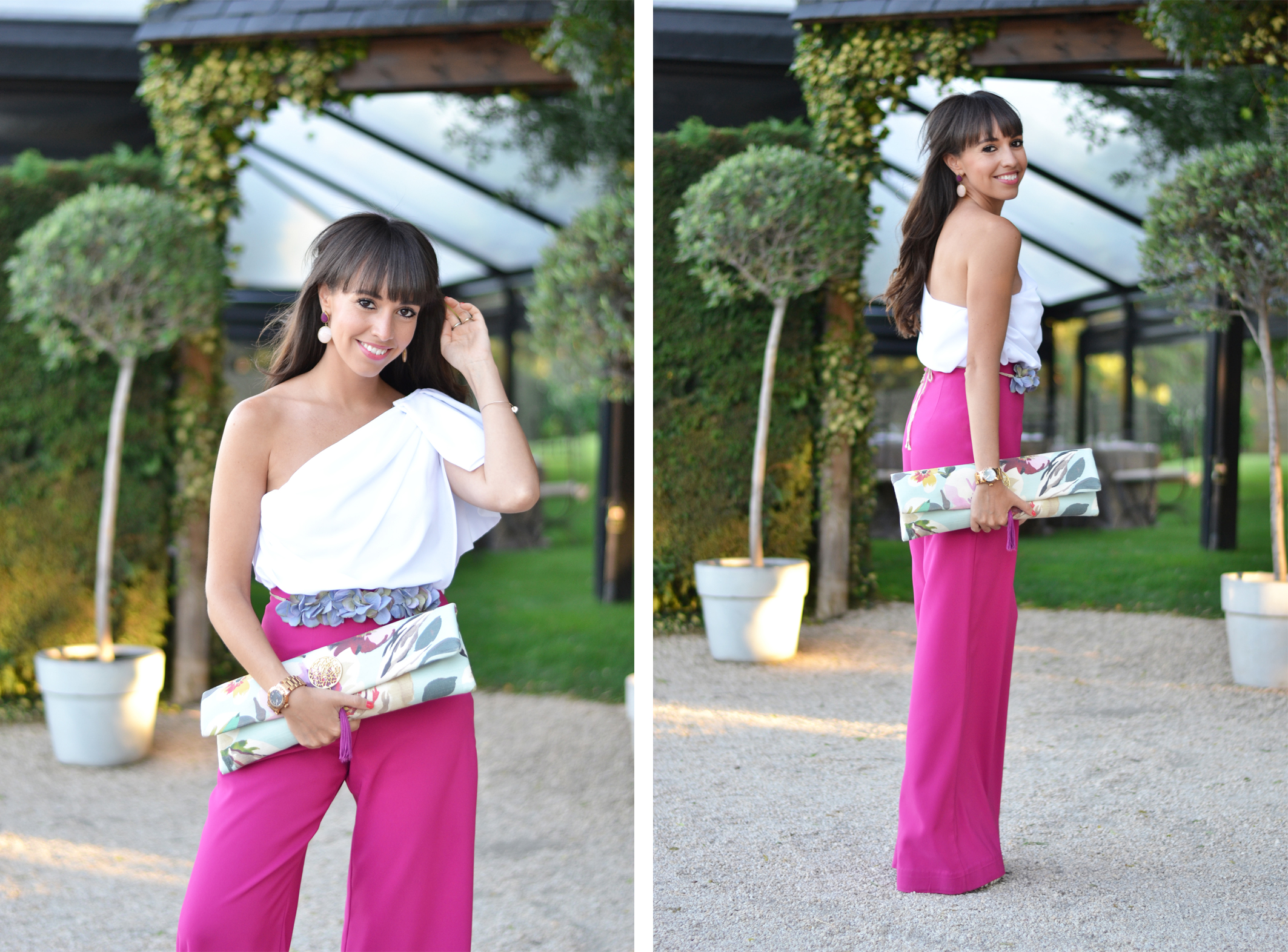 Summer-wedding_ palazzo-pants_ flower-belt_wedding-outfit_ceremony_street-style_(5)