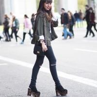 Peplum military shirt, Aviator Clear Lens, carey shoes, Street style, RetailMeNot