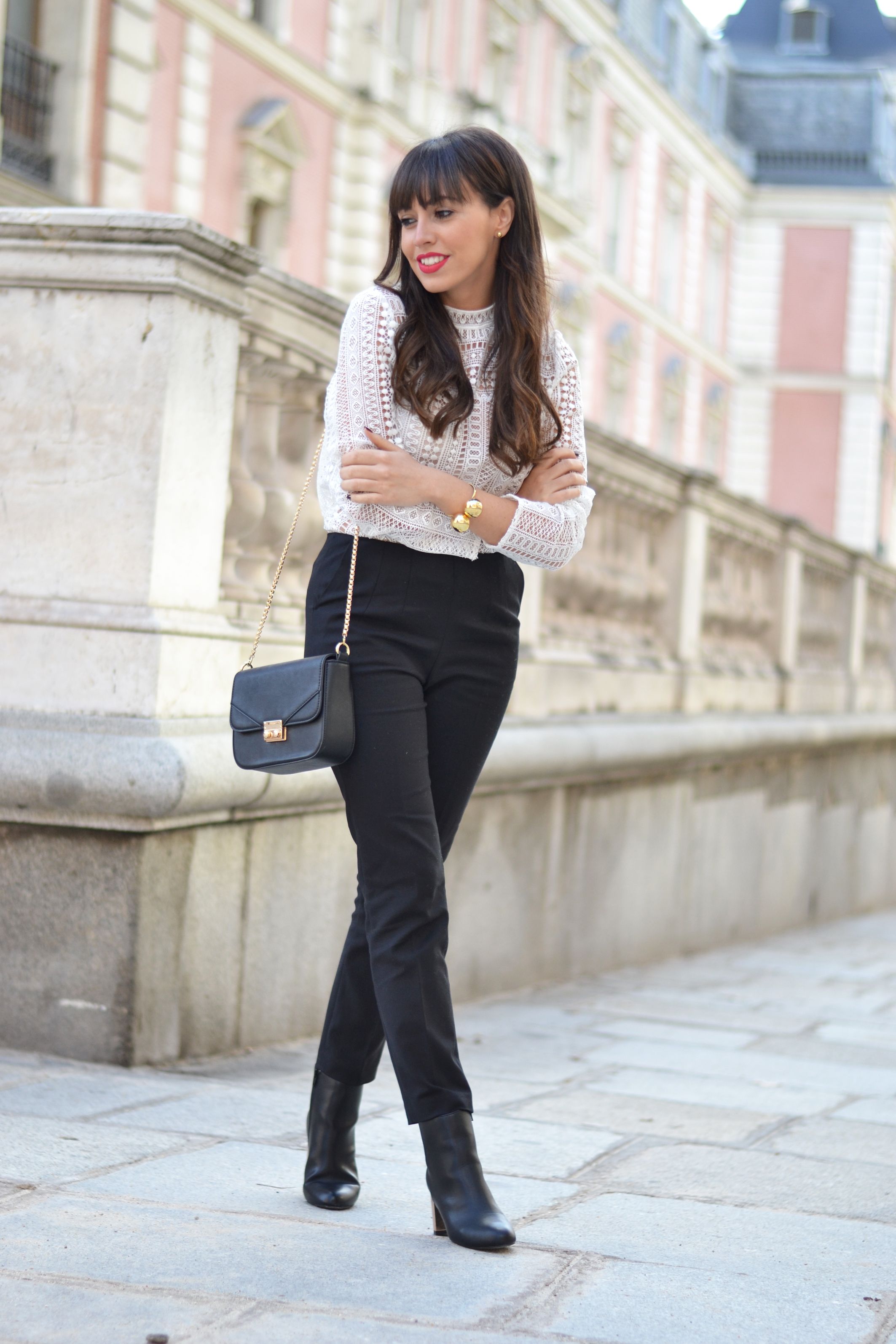 Street style, extra long coat, gold heels boots, La Redoute outfit, winter outfit