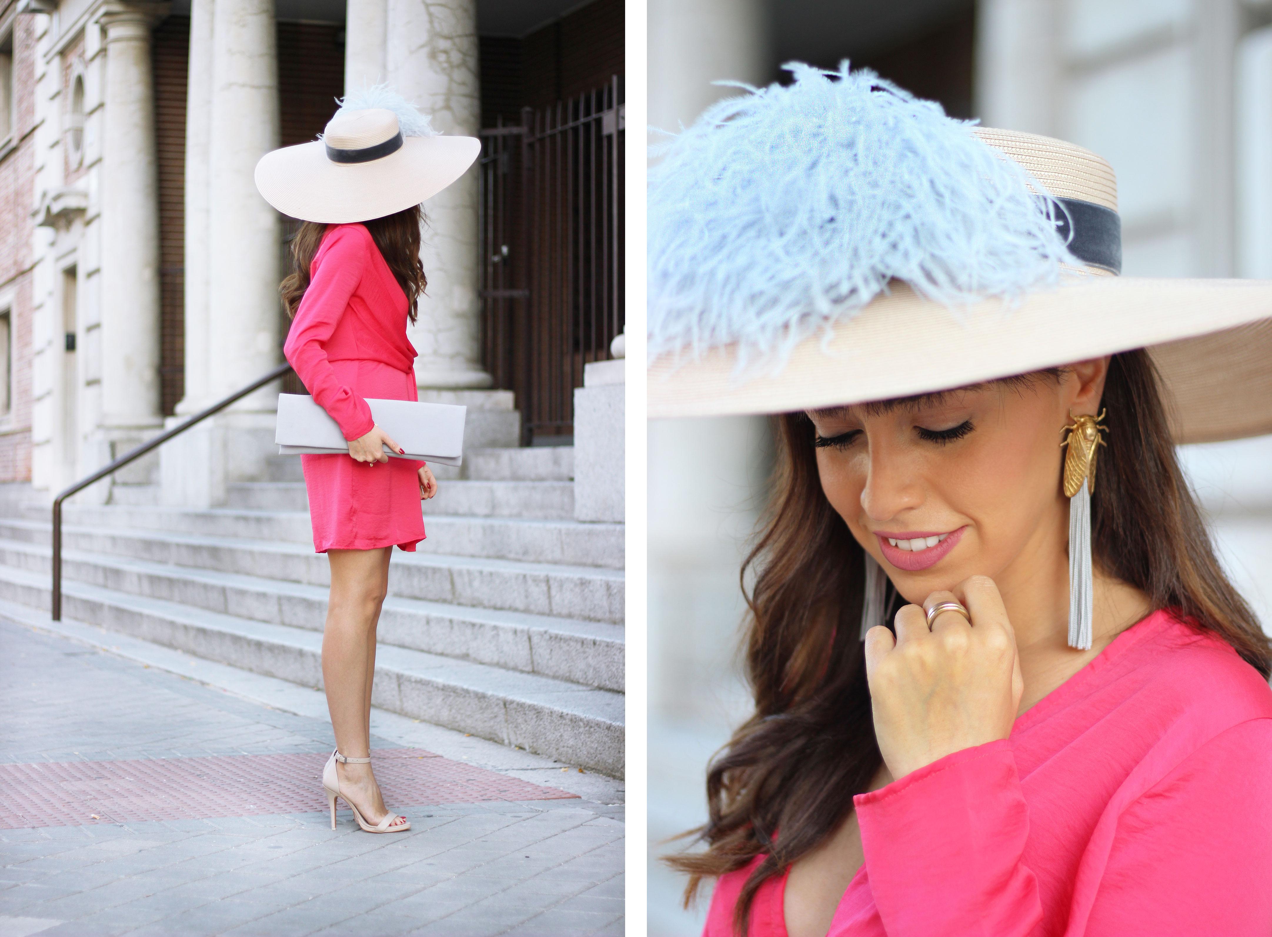 wedding outfit, look boda, la mas mona, invitada perfecta, alquiler vestidos, pamela