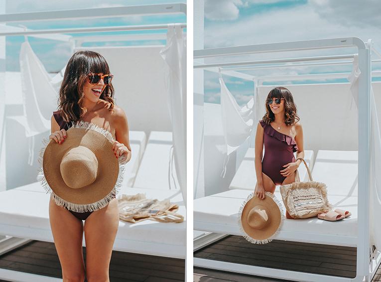 La redoute baño, coleccion verano, bañador volante, sombrero paja, tendencia conchas bolso , outfits verano, street style