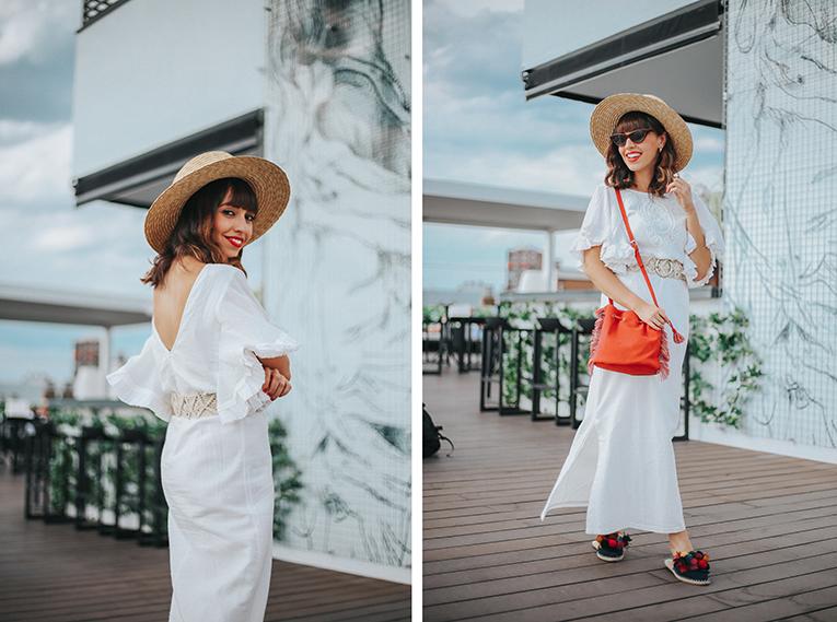 La redoute baño, coleccion verano, vestido largo blanco volantes , outfits verano, street style