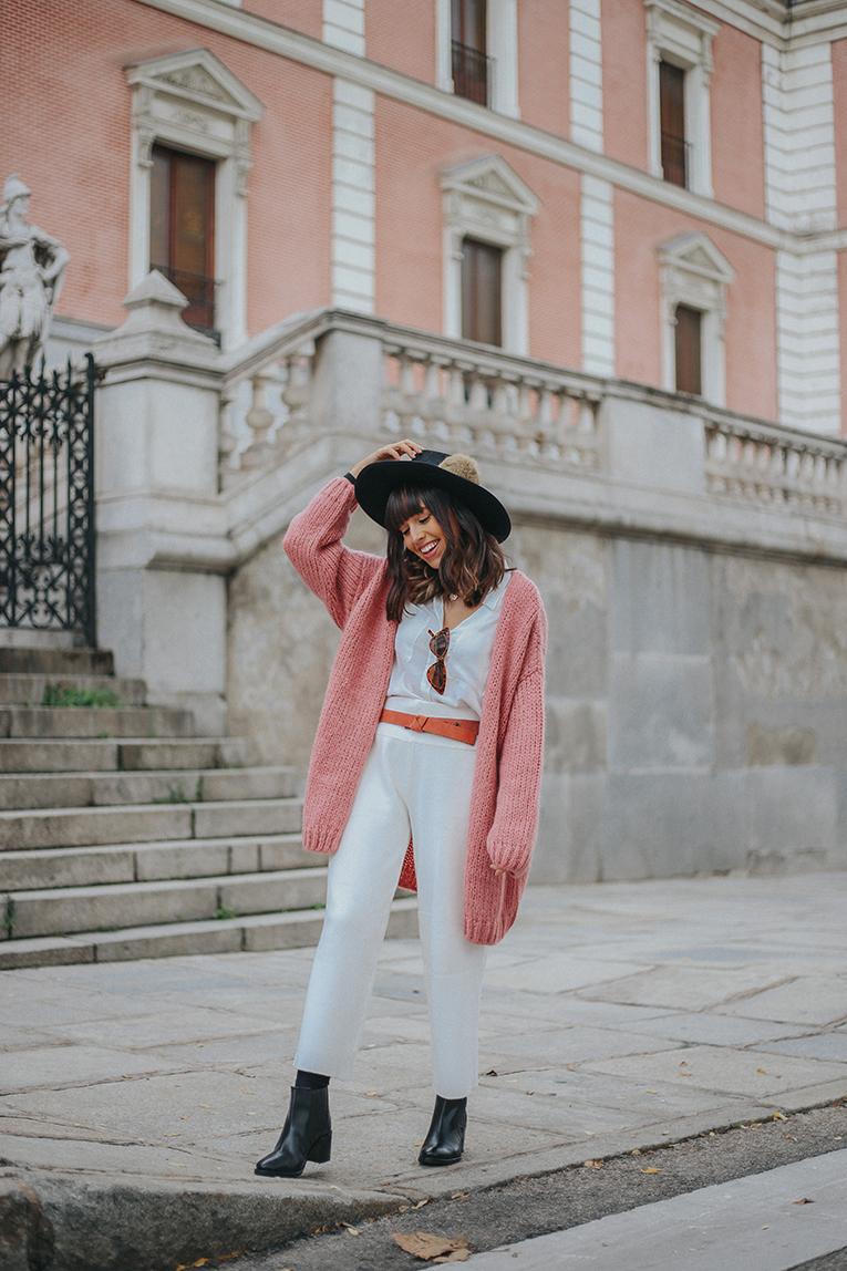 La Redoute, Otoño invierno, sombrero, chaqueta punto